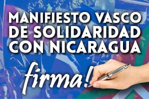Manifiesto vasco de Solidaridad con Nicaragua